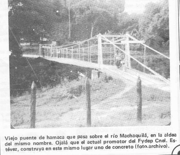 PUENTE HAMACA SOBRE RIO MACHAQUILA, POPTUN PETEN