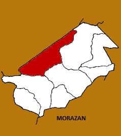 MAPA MUNICIPIO DE MORAZAN, EL PROGRESO