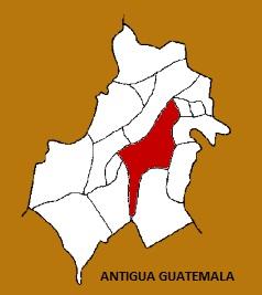 MAPA ANTIGUA GUATEMALA, SACATEPEQUEZ
