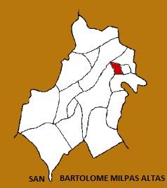 MAPA MUNICIPIO SAN BARTOLOME MILPAS ALTAS, SACATEPEQUEZ