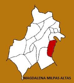 MAPA MUNICIPIO MAGDALENA MILPAS ALTAS