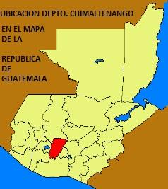 UBICACION DEPTO. DE CHIMALTENANGO EN EL MAPA DE LA REPUBLICA DE GUATEMALA