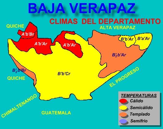 CLIMAS DE BAJA VERAPAZ
