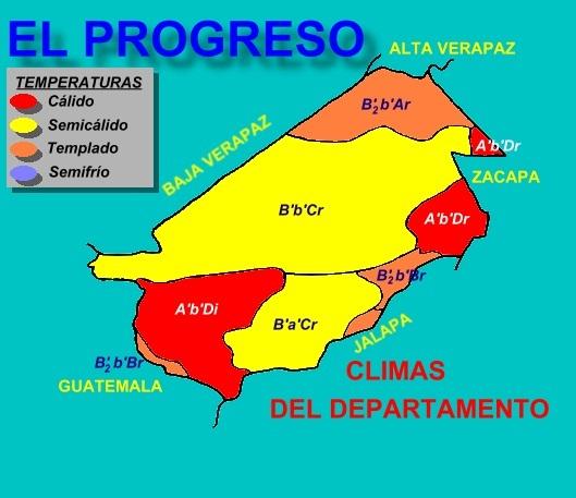 CLIMAS DEL DEPARTAMENTO DE EL PROGRESO