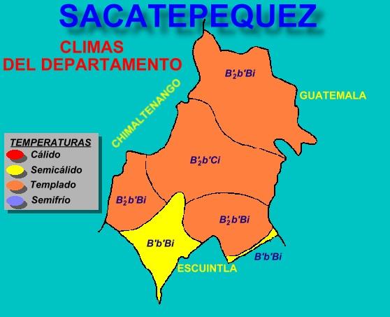 CLIMAS DEL DEPARTAMENTO DE SACATEPEQUEZ