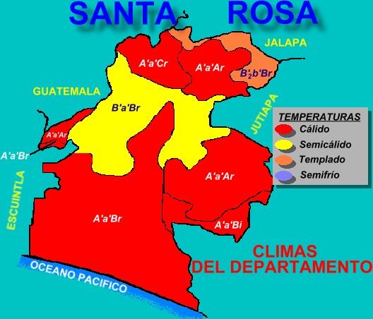 CLIMAS DEL DEPARTAMENTO DE SANTA ROSA