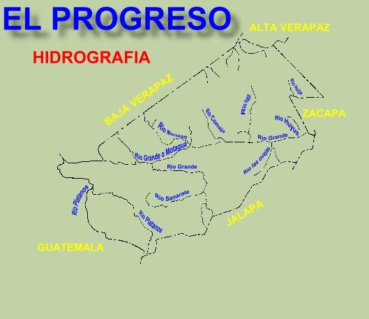 RIOS DEL DEPARTAMENTO DE EL PROGRESO
