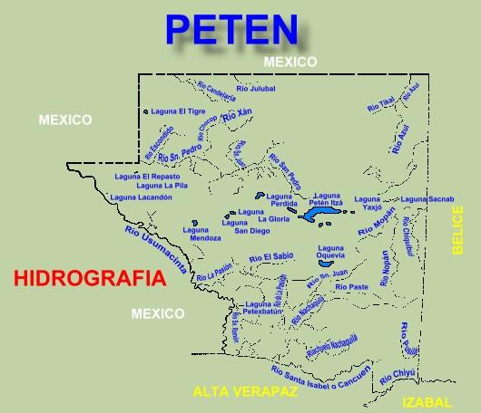 MAPA HIDROGRAFICO DE PETEN