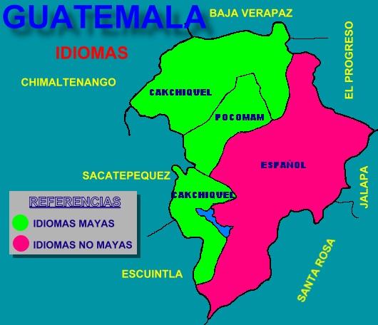 MAPA IDIOMAS DEPARTAMENTO DE GUATEMALA