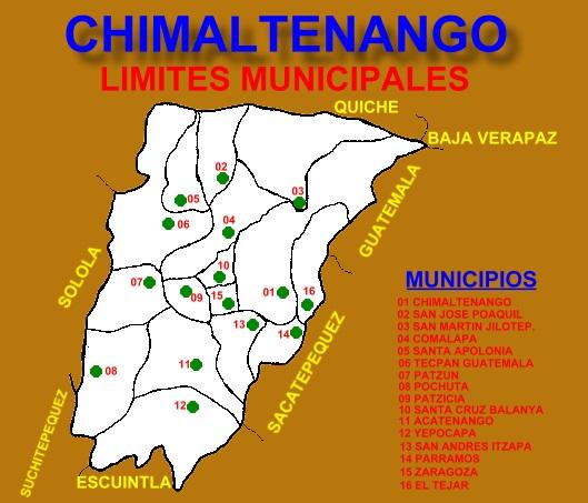 LIMITES MUNICIPALES CHIMALTENANGO