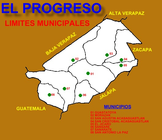 LIMITES MUNICIPALES DEL DEPARTAMENTO DEL PROGRESO