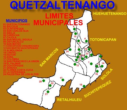 LIMITES MUNICIPALES QUETZALTENANGO