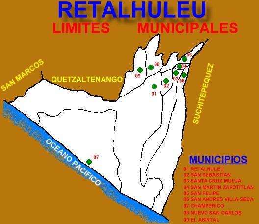 LIMITES MUNICIPAL DE RETALHULEU
