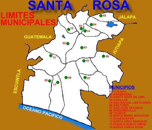 LIMITES MUNICIPALES DEPARTAMENTO DE SANTA ROSA