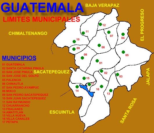 LIMITES MUNICIPALES DEPARTAMENTO DE GUATEMALA