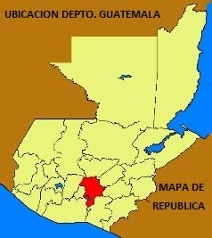 UBICACION MAPA DEPTO. DE GUATEMALA EN MAPA DE LA REPUBLICA