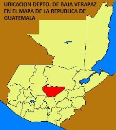 UBICACION DEPTO. DE BAJA VERAPAZ EN EL MAPA DE LA REPUBLICA DE GUATEMALA