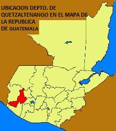 UBICACION DEPTO. DE QUETZALTENANGO EN EL MAPA DE LA REPUBLICA