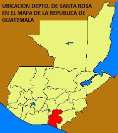 UBICACION DEPTO. DE SANTA ROSA EN MAPA DE LA REPUBLICA