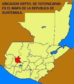 UBICACION DEPTO. DE TOTONICAPAN EN EL MAPA DE LA REPUBLICA DE GUATEMALA