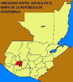 UBICACION DEPTO. SOLOLA EN EL MAPA DE LA REPUBLICA DE GUATEMALA