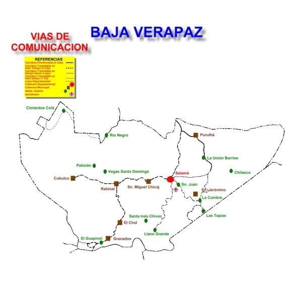 VIAS DE COMUNICACION BAJA VERAPAZ