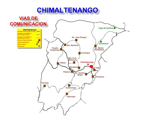 VIAS DE COMUNICACION CHIMALTENANGO