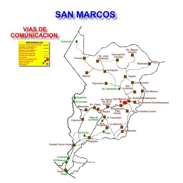 VIAS DE COMUNICACION DE SAN MARCOS