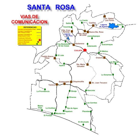 VIAS DE COMUNICACION DEPARTAMENTO DE SANTA ROSA